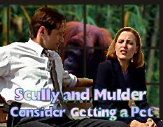 Scully and Mulder Consider Getting a Pet