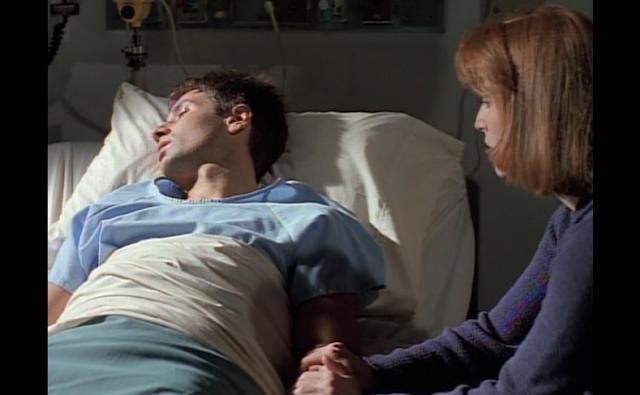 Mulder in hospital bed